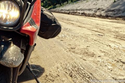 Digamos que había como pantano en la carretera