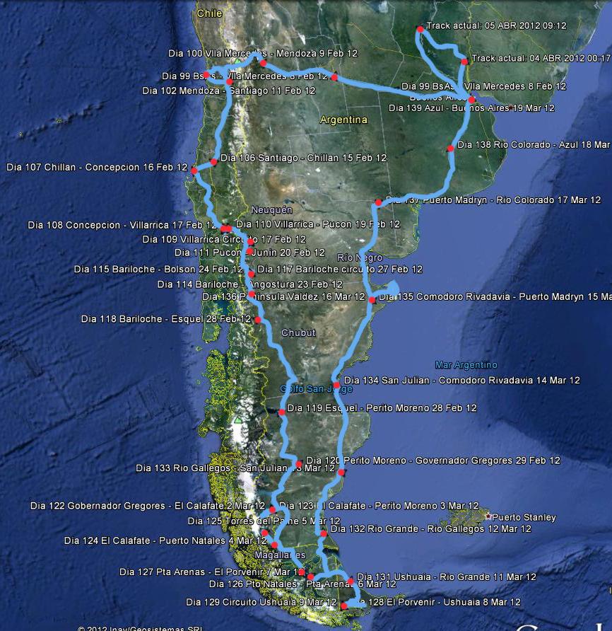 Segunda parte: Buenos Aires, Argentina | Tierra de Fuego | Buenos Aires, Argentina