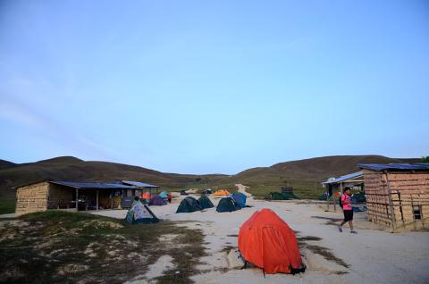 Campamento al pie del Roraima