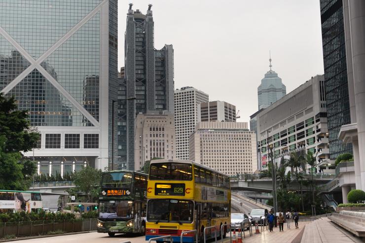 Calle céntrica de Hong Kong