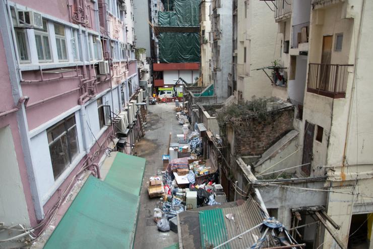 Los patios traseros Hongkoneses son siempre una maravilla