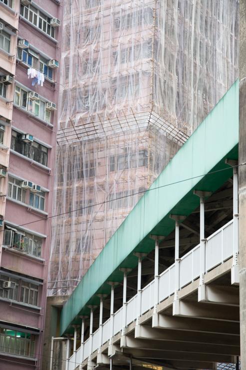 Edificios muy altos construidos de una forma muy tradicional