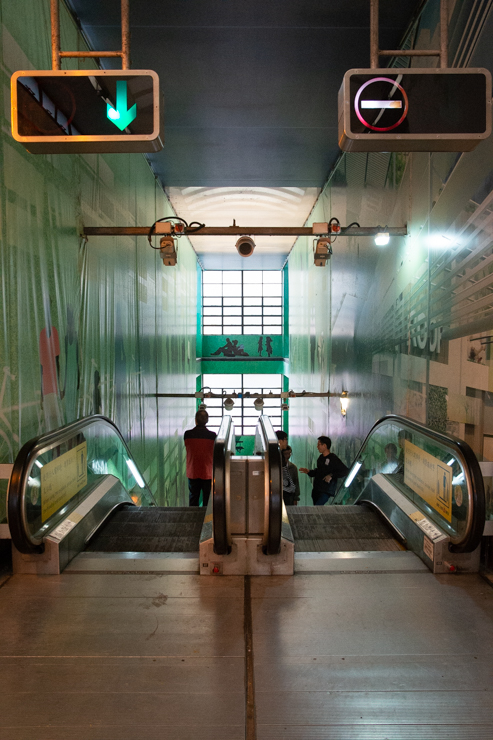 Las escaleras eléctricas del Hong Kong