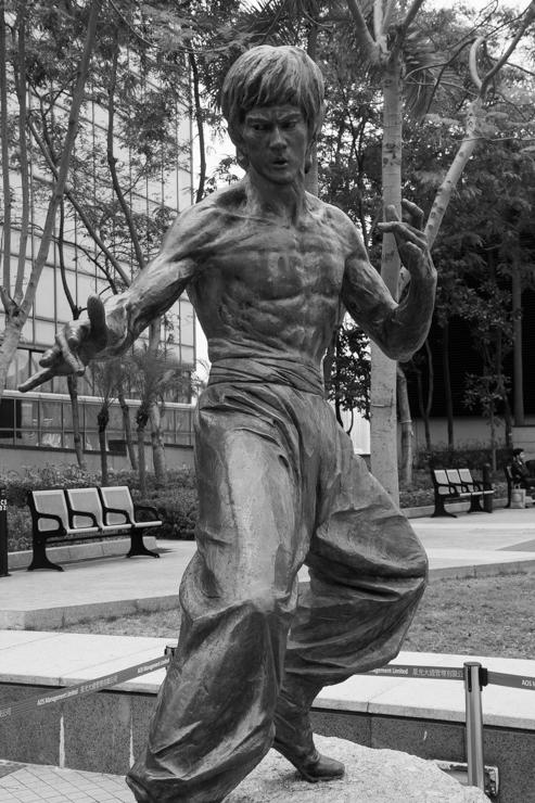 Estatua de Bruce Lee en la tierra de Bruce Lee