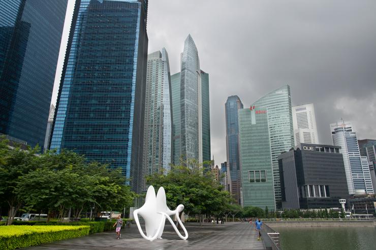 Vista del centro financiero de la ciudad