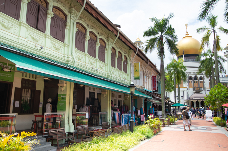 El barrio musulman con la mezquita más importante de singapur
