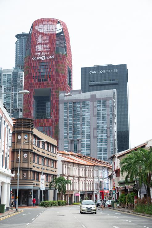 El moderno centro de singapur