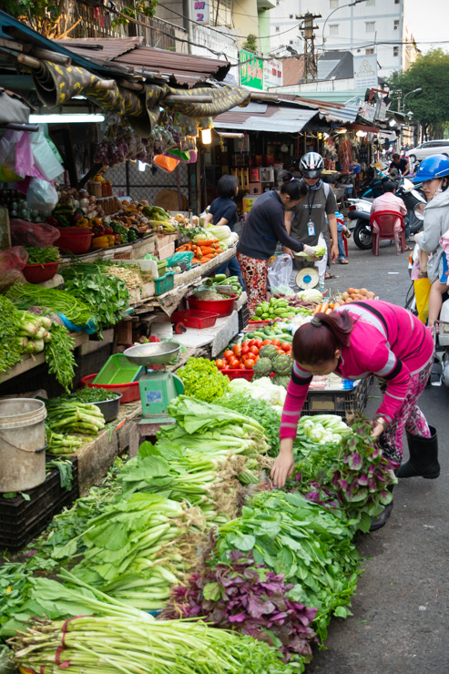 Venta de verduras, Ho Chi Minh