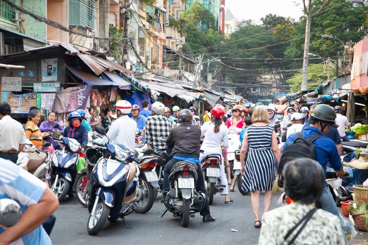 Caótica callejuela, Ho Chi Minh