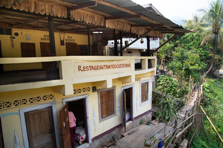 Las habitaciones del hostal/bar/restaurante Nam Ou