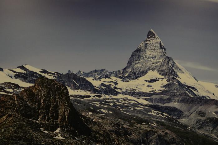 Esto fue lo único que pudimos ver del Matterhorn... un afiche