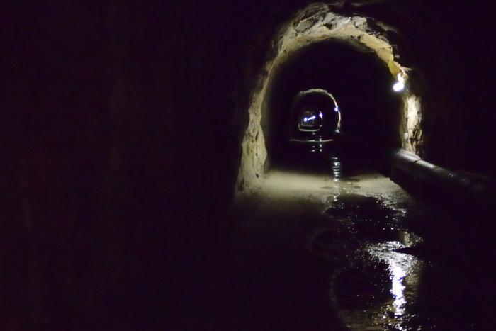 La parte iluminada del túnel (donde uno puede tomar una foto)