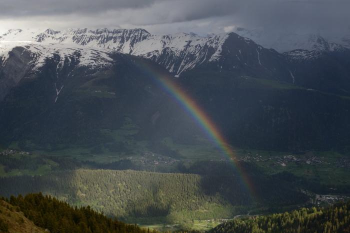El arcoiris después de la lluvia