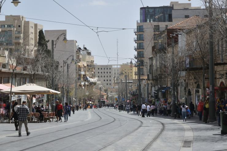 La calle Jaffa de la moderna Jerusalem