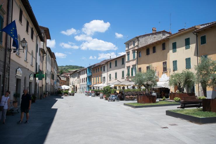 Plaza principal de Gaiole in Chianti