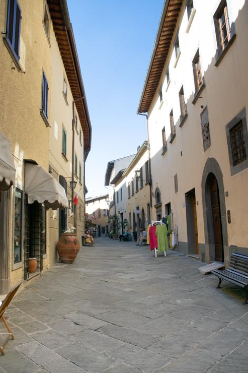 Calle principal de Rada in Chianti