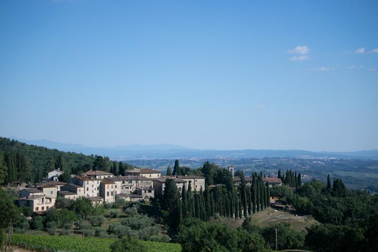 Vista de la Toscana desde la carretera