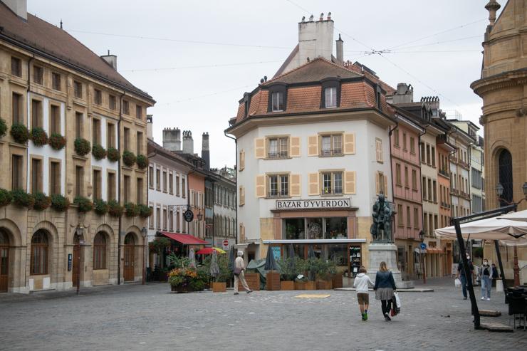 Yverdon les Bains, centro de la ciudad