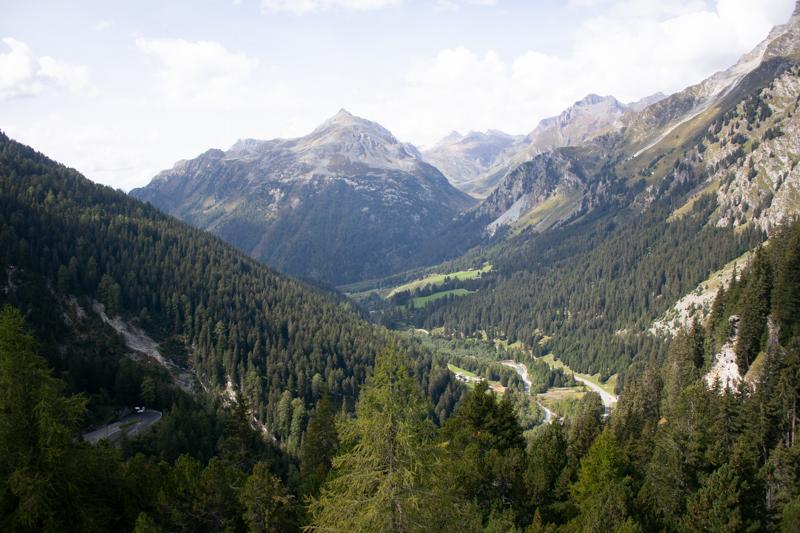 El valle de Bregaglia, frontera italosuiza