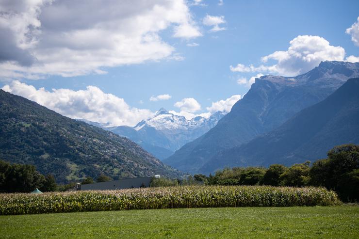 Montañas camino a Zermatt