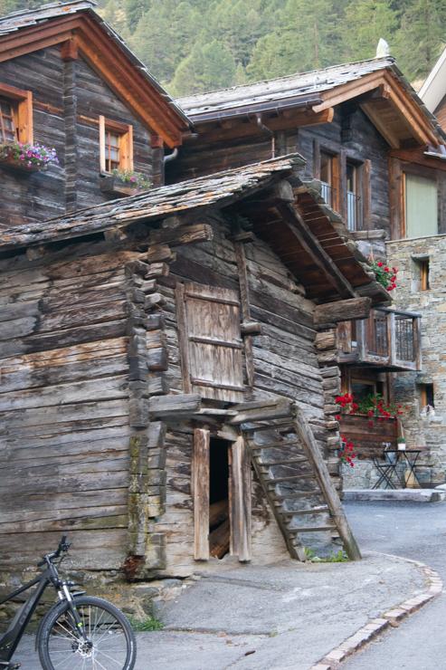 Casa cuando Zermatt era un poblado de campesinos