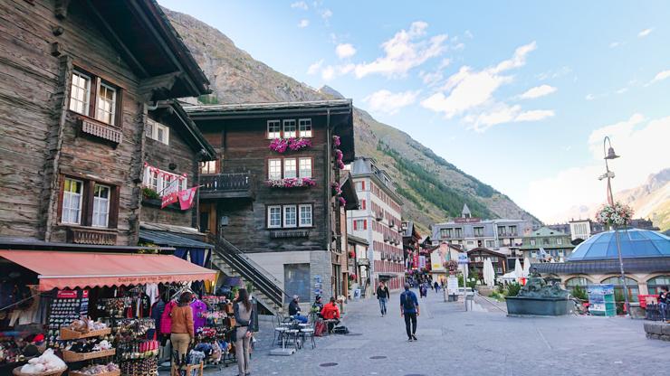 Plaza principal de Zermatt