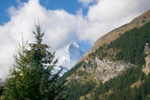 La última vista del Matterhorn, lamentablemente con otra nube encima