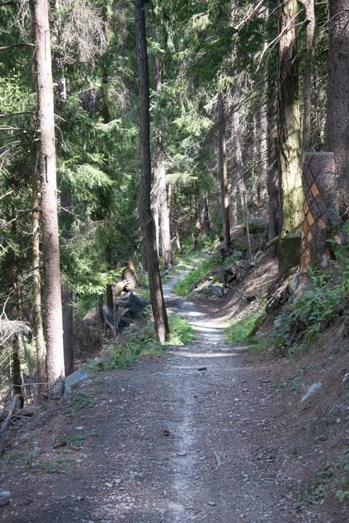 Amplio sendero para la bicicleta