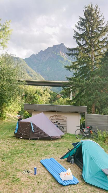 Mi carpita en el campamento