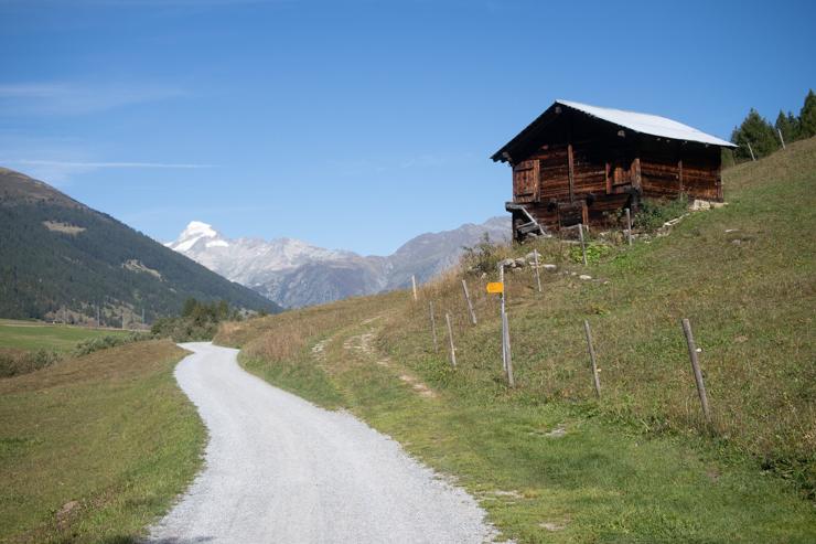 Llegando a Ulrichen