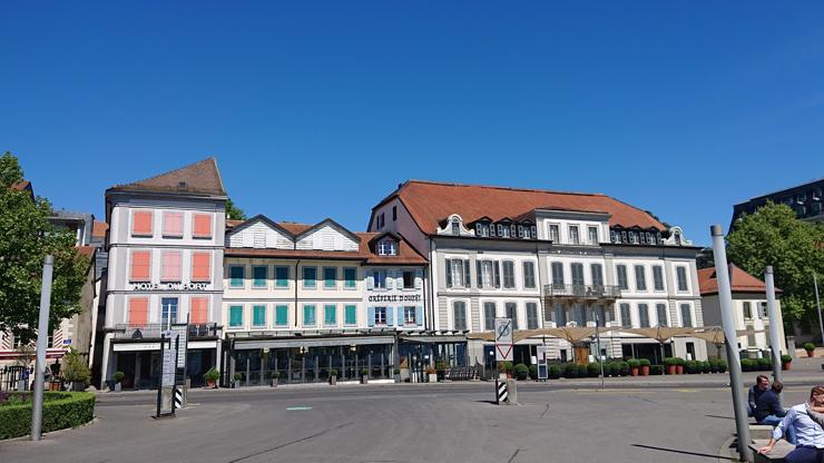 La ciudad baja de Lausanne