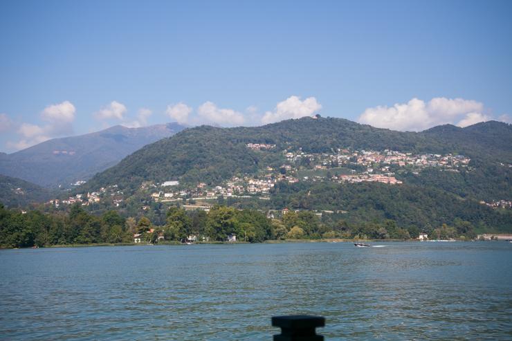 Vista del lago de Lugano desde la Colina D'oro